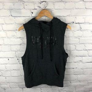 Victoria Secret Sport | Gray Hooded Tank Sweater S